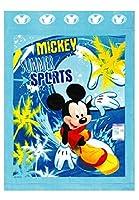 2125006400 お昼寝ケット タオルケット 85cm×115cm ディズニー ミッキーマウス ウェーブミッキー