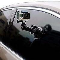 KESOTO ゴープロアクションカメラに対応 吸盤マウント 強力吸着車マウント 車ホルダー 9cm