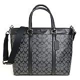 [コーチ]COACH OUTLET メンズ ビジネス トート バッグ Business Tote Bag Signature シグネチャー PVC レザー ブラック 黒 F54799-CQ/BK [並行輸入品]