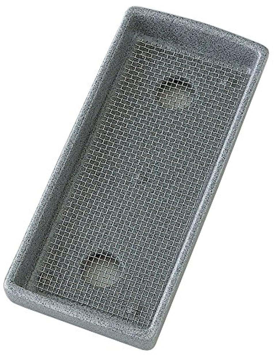 弁護王族縞模様のマルエス 線香皿 磁器製 寝かせ香皿