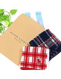 [刺繍名入れ可 全30色 正規ギフトバッグ付き] ラルフローレン ハンカチ ポケットサイズ セット メンズ レディース タオル ギフト コットン100% 正規品