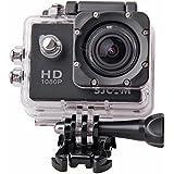 「SJCAM正規品」1080P防水 スポーツカメラ マリンスポーツやウインタースポーツに最適! バイクや自転車、カートや車に取り付け可能なスポーツカメラ HD動画対応 コンパクトカメラ SJ4000 (ブラック)