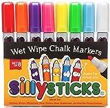 Best 子供クラフトミラー - チョークマーカー、Best 8パックのセット太字Vibrant Colors by sillysticksミラーガラス、プラスチック、から、消去可能、メタル、ホワイトボード、黒板、完璧教師、子供、ママと、毒性、無臭、効果を高めるのアートandクラフトプロジェクトNow 。 Review