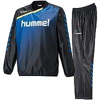 ヒュンメル(hummel) トライアルコート&トライアルパンツ 上下セット(ブラックロイヤルブルー/ブラックロイヤルブルー) HAW4174-9063-HAW5174-9063