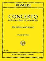 VIVALDI - Concierto en Sol menor (RV317) Op.12 nコ 1 para Violin y Piano (Galamian)