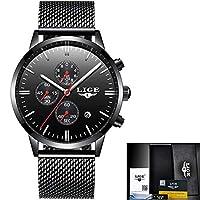 美しい機械式時計 パーソナリティファッションカジュアルマルチ機能防水クォーツ時計ビジネススポーツ腕時計LIGEメンズネット (Color : 1)