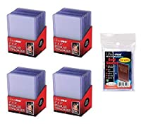 """UltraPro 3"""" x 4"""" Clear Regular Top Loaders - 100 Total + Ultra Pro Clear Soft Sleeves - 100 Total [並行輸入品]"""