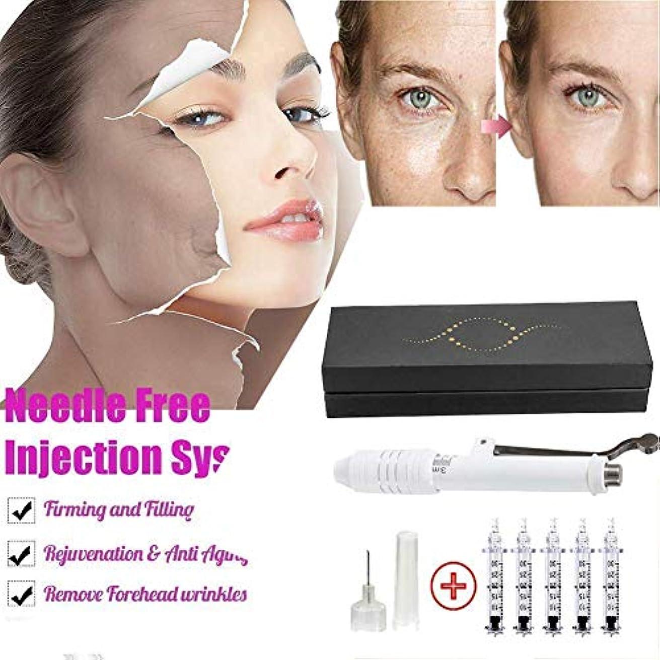 唇手伝うネスト高圧ヒアルロン酸ペン、ニードルフリー注射ペンは、5アンプルヘッドで傷、しわ、しみを減らし、肌を強化します。