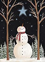 LPG Greetings wish on a Star雪だるま:ボックスof 14Kim Leo Deluxe Glitterクリスマスカード