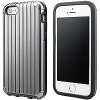 """GRAMAS COLORS """"Rib"""" Hybrid case CHC416 for iPhone SE / 5s / 5c / 5 グラマスカラーズ リブ ハイブリッドケース 耐衝撃ケース ICカード対応(グレイ)"""