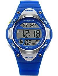 SKMEI 腕時計 LED多機能スポーツウォッチ M905A キッズ (ブルー)