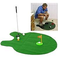 【 ゴルフ好き には もってこいの プレゼント 】 トイレ で 楽しむ ゴルフパター 練習 マット ボール ゴルフ インテリア コンペ 面白い 景品 最適 雑貨 トイレマット AZ-TOIGOLF