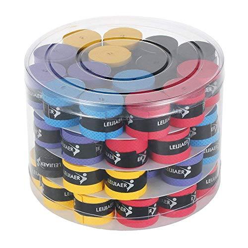Docooler 60本 テニスラケットオーバーグリップ バドミントンラケット グリップ 釣り竿スウェットバンドグリップ (60本)