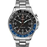 TIMEX Allied Three GMT メンズステンレススチールシルバー腕時計 TW2R43500