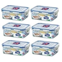 Lock&Lock Rectangular Food Container, Short, HPL806, 1-1/2-Cup, 11 Oz by LockandLock