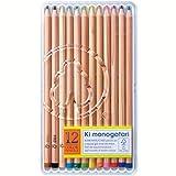 トンボ鉛筆 色鉛筆 F木物語 12色 CP-RF0212C 黄緑 プラケース入