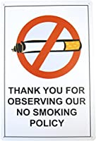 No Smoking ノースモーキング ブリキ看板 【20cm×30cm】 アメリカン インテリア雑貨 禁煙
