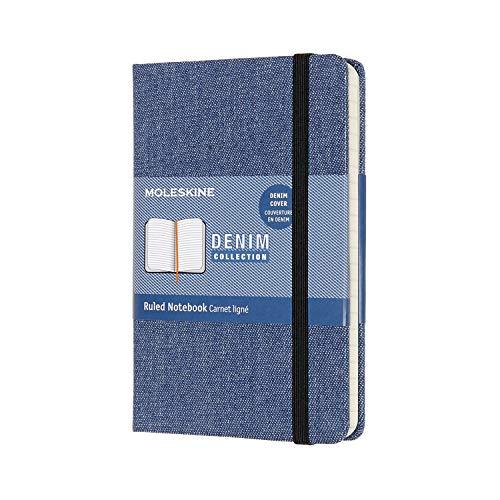 モレスキン ノート 限定版 コレクション デニム ノートブック 罫線 ポケット アントワープブルー LCDNB2MM710