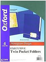 Monogram Series Business Portfolio, Premium Cover Stock, Black/Gold, 4/Pack (並行輸入品)