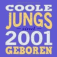 Coole Jungs sind 2001 geboren: Cooles Geschenk zum 18. Geburtstag Geburtstagsparty Gaestebuch Eintragen von Wuenschen und Spruechen lustig / Design: Spruch lustig Vintage Retro