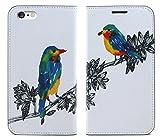 【アイ・ラブ・ショップ】 ILOVE SHOP iPhone&Glaxy 木と新しいパターンのイラスト手帳型デザイナーケース.MR.4047 (Galaxy s7-g930) [並行輸入品]