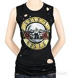 ガンズ・アンド・ローゼズ Guns N Roses Circle Guns Destroyed 婦人向け Women's Tank Top Tシャツ T-Shirt