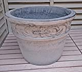 ベトナム鉢 ラムエル (40cm) アイスウォッシュ色 テラコッタ 大型 植木鉢 プランター アンティーク調 陶器鉢 おしゃれ 園芸 ガーデニング ヨーロピアンガーデン