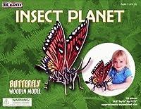 ジグソーパズル: 3- D木製: Butterflies : Monarch