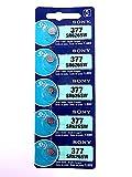 SONY(ソニー) SR626SW(377) 5個入 時計用電池 海外パッケージ