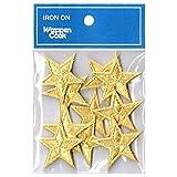 刺繍ワッペン アイロンパッチ ミニ星スター10枚セット NO-5530-10p (ゴールド)