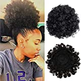 WigClub Afro Ponytail Drawstring Synthetic Short Afro Kinky Curly Pony Tail Hairpieces Wig Updo Hair