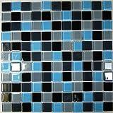 ノーブランド品 ガラスモザイクタイル22シート(約2平米)セット