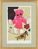 フジ子・ヘミング『ピンクのぬいぐるみ』シルクスクリーン・動物画・【版画・絵画】【B843】