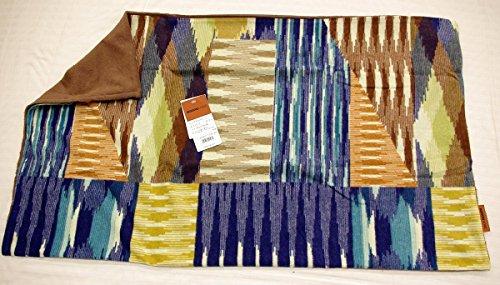 【西川】MISSONI ミッソーニ タオルピロケース(パッチ) 43×63cm用/ 封筒式 日本製 (ブルー)