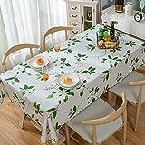 ポリ塩化ビニールのテーブル クロスを印刷,耐水性耐油性鉄防表カバー シミュレートされたコットン リネン長方形サイド テーブル ダイニング テーブル読書テーブル プロテクター-g