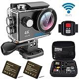 EKEN H9R アクションカメラ 4K ドライブレコーダー 「メーカー直販/1年保証付」 2インチ液晶画面 30M防水 WiFi搭載 25fps録画 ループ録..