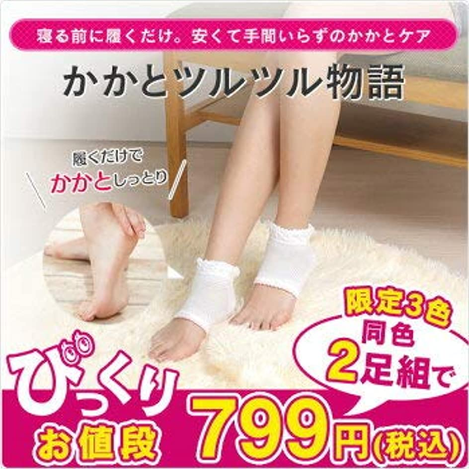祝福する存在する雑品在庫処分 かかと ツルツル靴下 2足組 かかと 角質 ケア ひび割れ対策 太陽ニット (白)