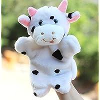 ychoice面白いFinger Puppets Story Telling教育玩具おもちゃベビーキッズPlush Cow Hand Puppet ( New )