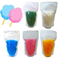 わたがし用ザラメ 楽しいわたあめ カラーざらめ 色砂糖 5色×各100gセット