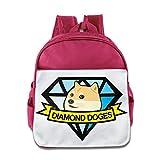 xjbdカスタム面白いダイヤモンドdoges-emoji Doge Teenagerスクールバッグバックパック1–6歳の古いロイヤルブルー One Size ピンク XJBDKB-7847882-Pink-29