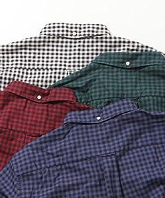 Oxford Gingham Buttondown Shirt 11-11-0918-139: White / Black