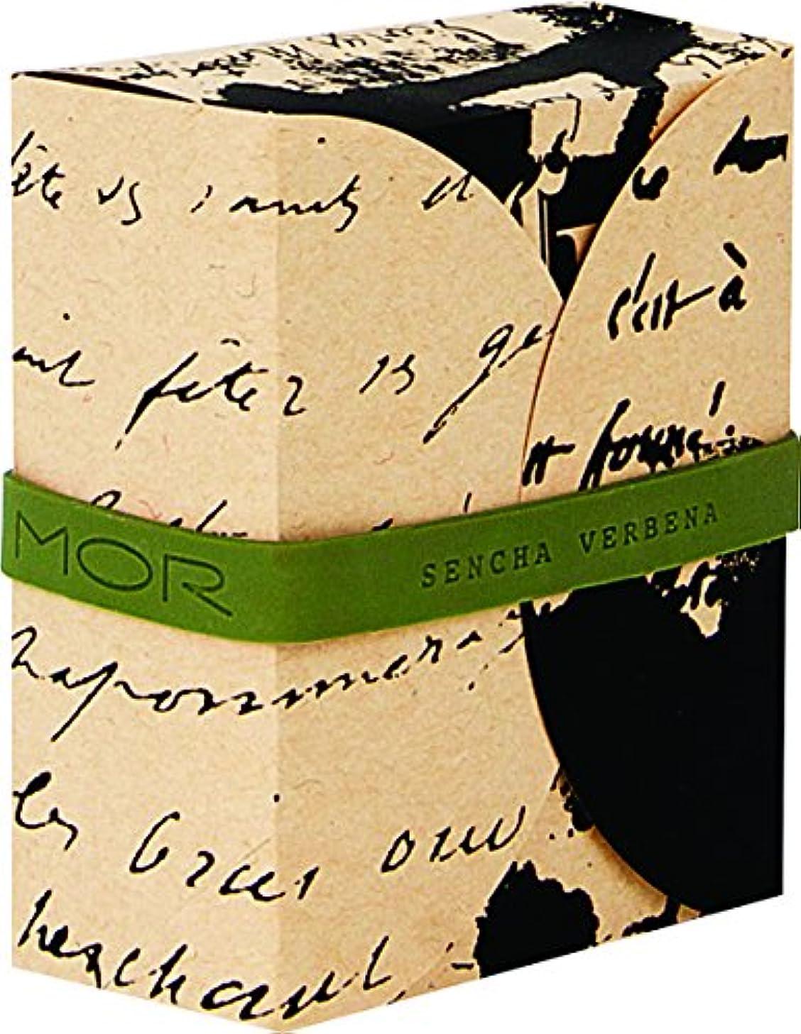 機関郵便番号葉MOR(モア) コレスポンデンス トリプルミルドソープバー センチャバーベナ 180g
