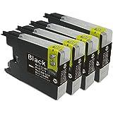 むさしのメディア BROTHER(ブラザー) LC12BK (ブラック4個セット) 互換インクカートリッジ 顔料