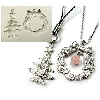 銀粘土用 シリコンモールド クリスマス