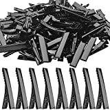 Alligator Hair Clips, 100pcs Single Prong Metal Hair Clips Flat Alligator Clips with Teeth Duckbill Hair Clips for Hairbow Accessory Crafts - 3.2 x 0.6cm