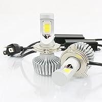 高輝度 7200lm COB LED ヘッドライト H4 Hi/Lo 3000K 2個セット すれ違い光軸対応 長寿命 ファンレスタイプ