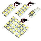 【断トツ135発!!】 Y12 ウイングロード(ウィングロード) LED ルームランプ 4点セット [H17.11~] ニッサン 基板タイプ 圧倒的な発光数 3chip SMD LED 仕様 室内灯 カー用品 HJO