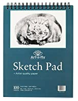 100 Sheets 9 x 12 Inch Medium Texture Sketchpad For Drawing General Use Spiral Bound Sketch Pad For Pencil Pastel and Charcoal Sketching Coloring Sketchbook [並行輸入品]