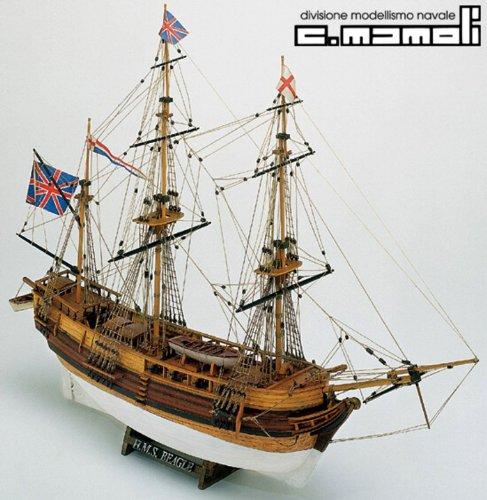 1152 輸入木製帆船模型 マモリ社 MV20 HMS ビーグル