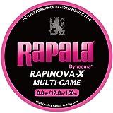 Rapala(ラパラ) ライン ラピノヴァX マルチゲーム ピンク 150m 0.8号